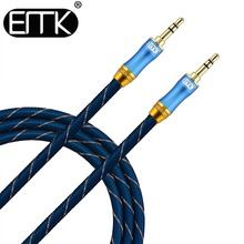 EMK 3.5mm Jack Audio Cable Gold Plated 3.5 mm Male to 3.5mm Male Aux Cable 3m 5m for iPhone Car Headphone Speaker Auxiliary Cord
