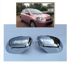 Car Styling Chrome Copertura Laterale Dello Specchio Per Nissan Micra Marzo K13 2010-2013 2014 2015 2016