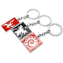 Newest Personality Exaggerated Charm Cool Ornament Star Craf 2 Keychain Toys Action Figures Terran Protoss Zerg Logo Key Ring