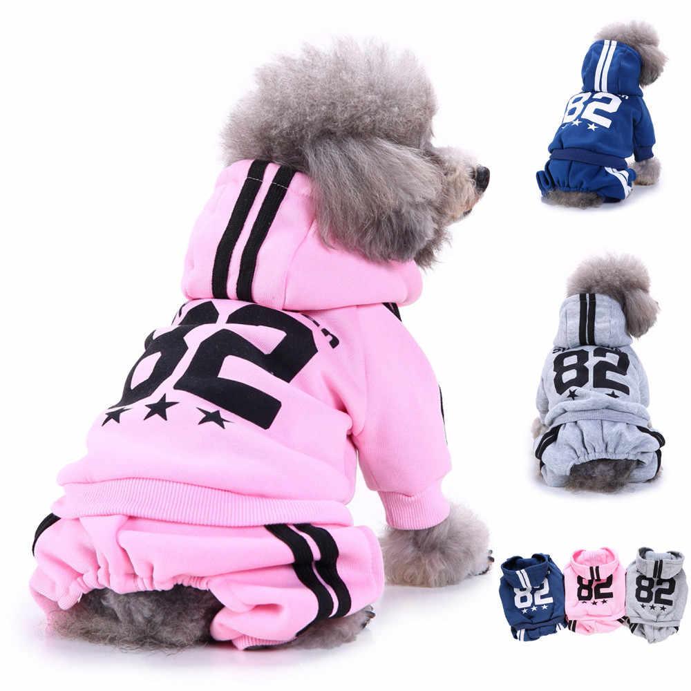 Vêtements d'hiver chauds pour chiens | Vêtements pour chiens, tenue à capuche en coton doux à quatre jambes pour petits chiens, pull à carlin, vêtements pour chiot, vêtements veste en tissu + 5 $
