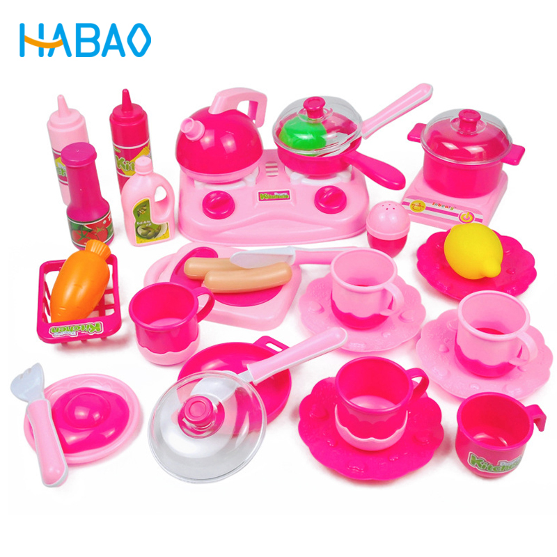 Educational Toys Children Play House Toys Set Simulation Tableware Kettles Fruits And Vegetables