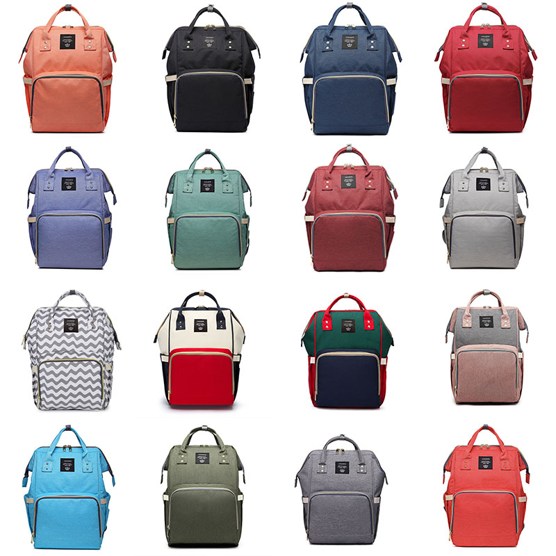Drop Shipping Diaper Bags Women Multifunctional Nappy Bags Baby Care Travel Backpacks Multi-pocket Nursing Bags Female Backpacks