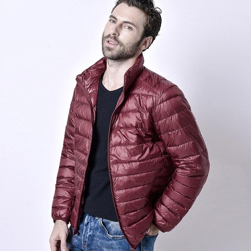 2018 invierno de los hombres ultraligero chaqueta de pato blanco abajo chaqueta hombres chaqueta chaquetas al aire libre de invierno hombre Casual abajo jacketCoat