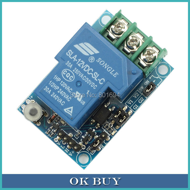цена на DC 12V 30A One Channel Self-locking Multifunctional A Key Switch Relay Module Board Optocoupler Isolation