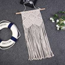 2019 Bohemian hand-woven tassel tapestry MS7045 Handwoven Cotton Thread Craft Unique Home Decoration Supplies