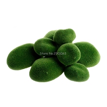 Garden Decor Green Artificial Moss Stones Grass Plant Poted Home Garden Decoration Landscape H06