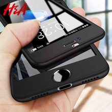 H&A Luxury 360 Full Cover Phone Case For iPhone 7 8 6 6s Plu