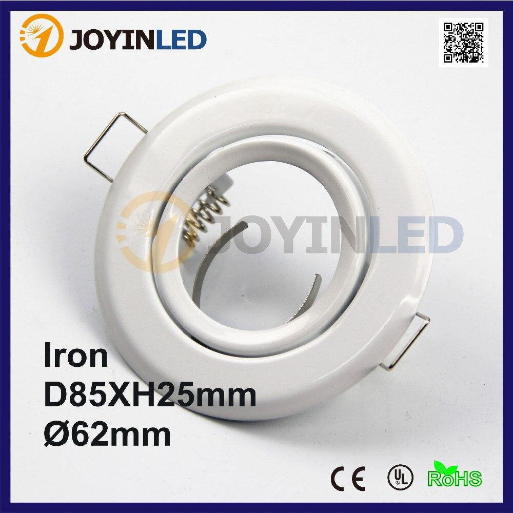 Free shipping 10pcs Recessed led light fixture trim MR16 halogen led spot light fixtures