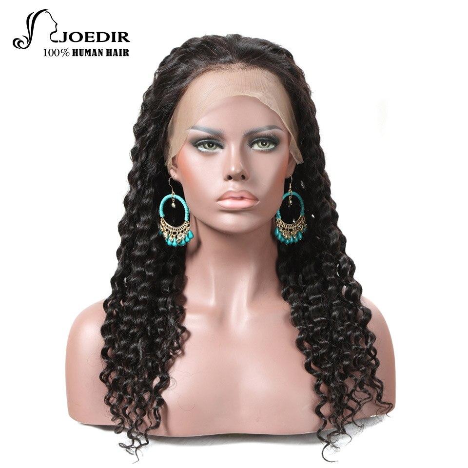 Joedir Wigs Brazilian Remy Human Hair 360 Lace Wig150% Density Deep Curl Human Hair For woman Natural Color Free Shipping