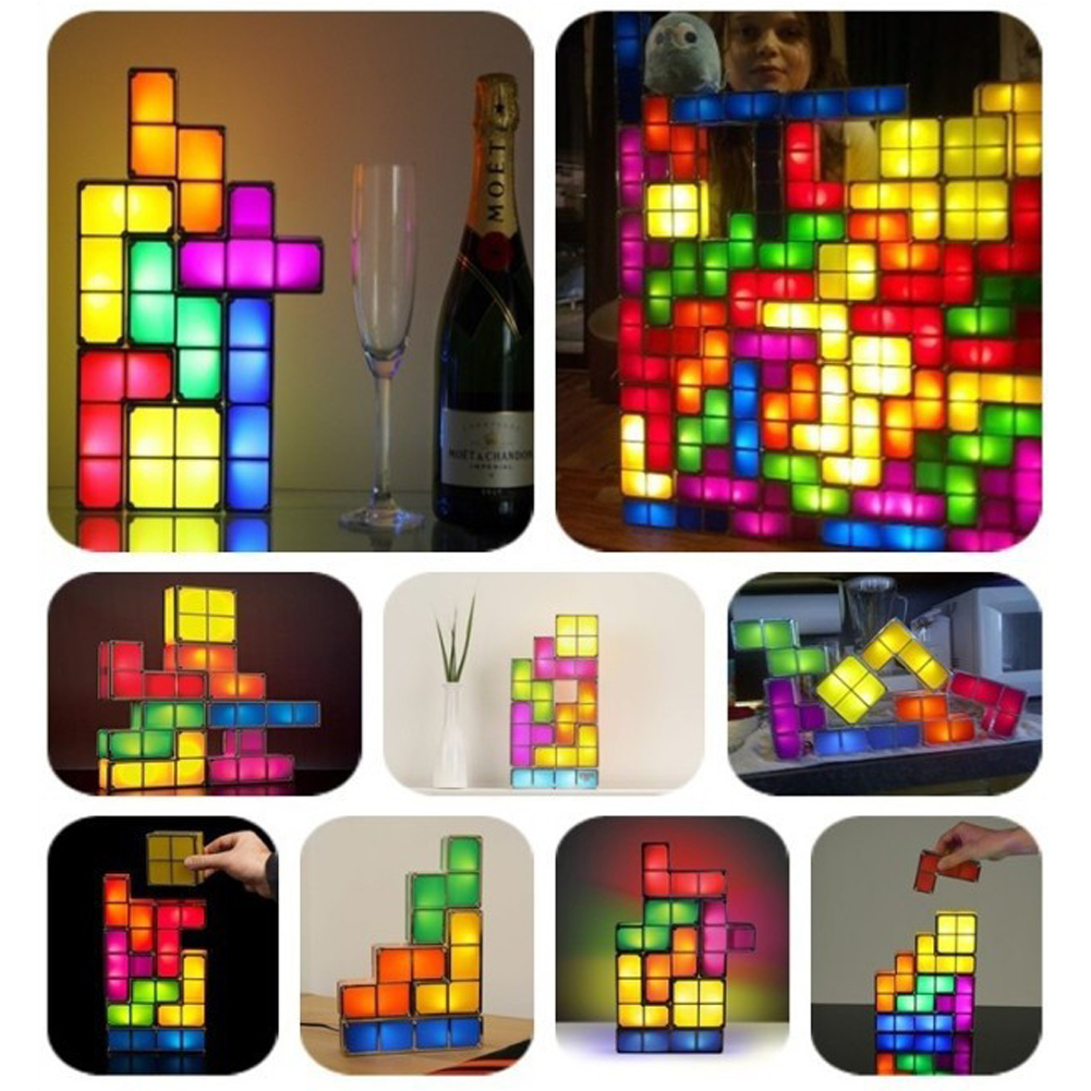 New arrival tetris puzzle light led constructible b lock desk new arrival tetris puzzle light led constructible b lock desk decorative lamp for kids diy retro game style chrismas gifts nvie in night lights from lights geotapseo Gallery