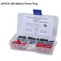 20 stücke Auto Batterie Quik Stecker 30A Powerpole Elektrische Stecker Stecker Golf Trolley Anhänger RV(China)