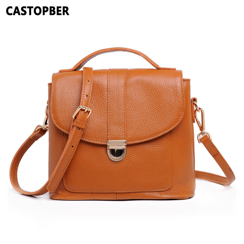 Korean Style Designer Women's Genuine Leather Cowhide Women Handbags Fashion Messenger Crossbody Tote Bags High Quality Ladies women shoulder bags leather handbags shell crossbody bag brand design small single messenger bolsa tote sweet fashion style