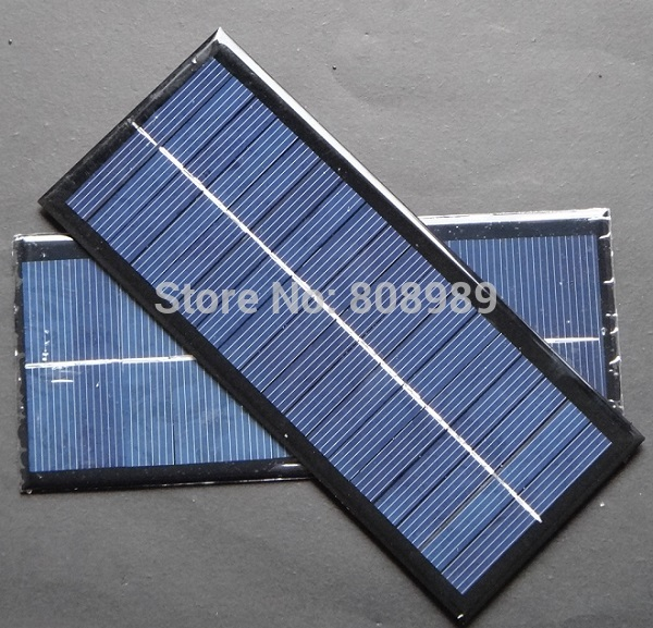 BUHESHUI Wholesale 2 5W 9V Polycrystalline Solar Cell Small Solar Panel for 6V Battery Charger 213