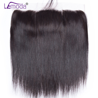 13X4 Ear to Ear Lace Frontal Closure Free Part With Baby Hair Pre Plucked Brazilian Straight Human Hair LeModa Remy Hair