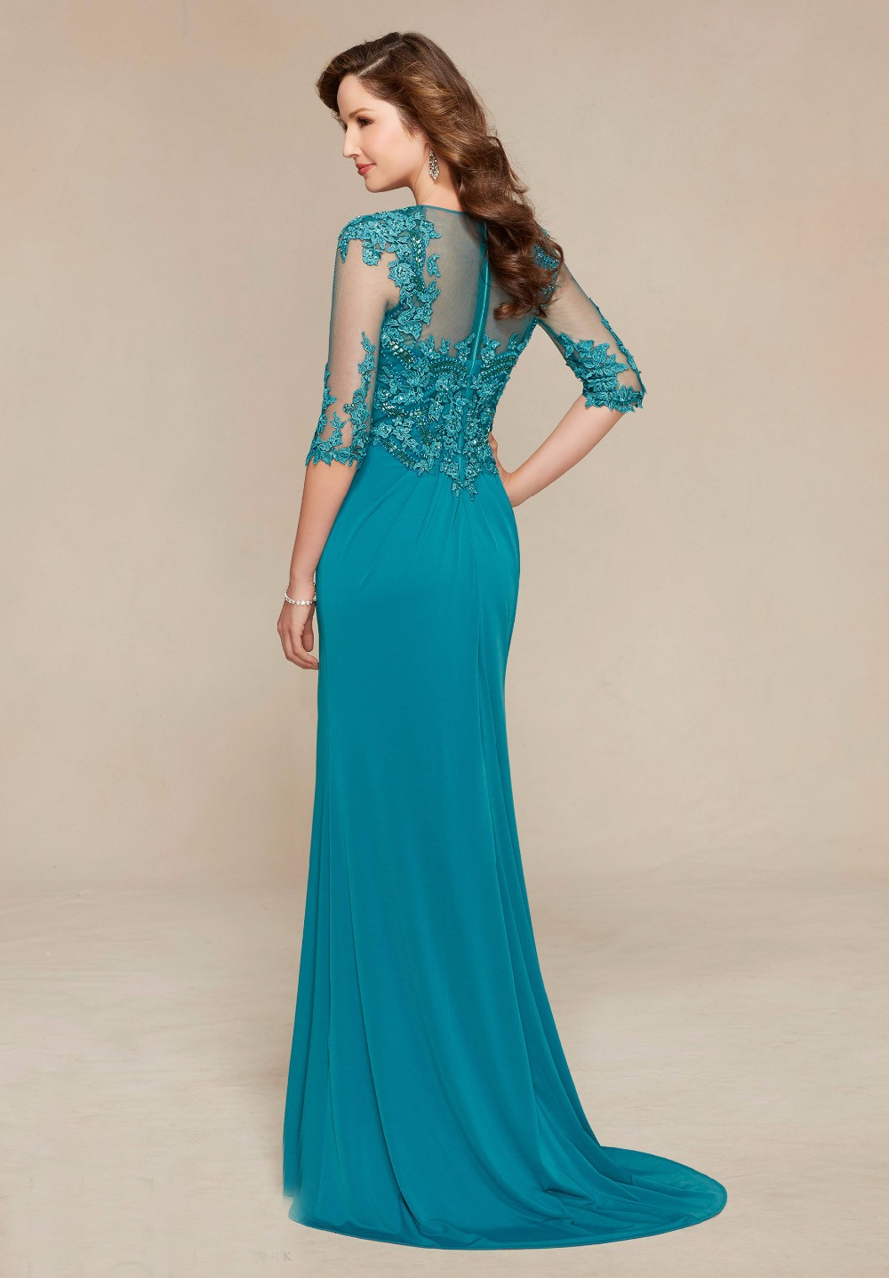 Custom-Made-Mother-Of-The-Bride-Dress-Gowns-Lace-Beading-Half-Sleeves-Godmother-Dresses-Trajes-de (1)