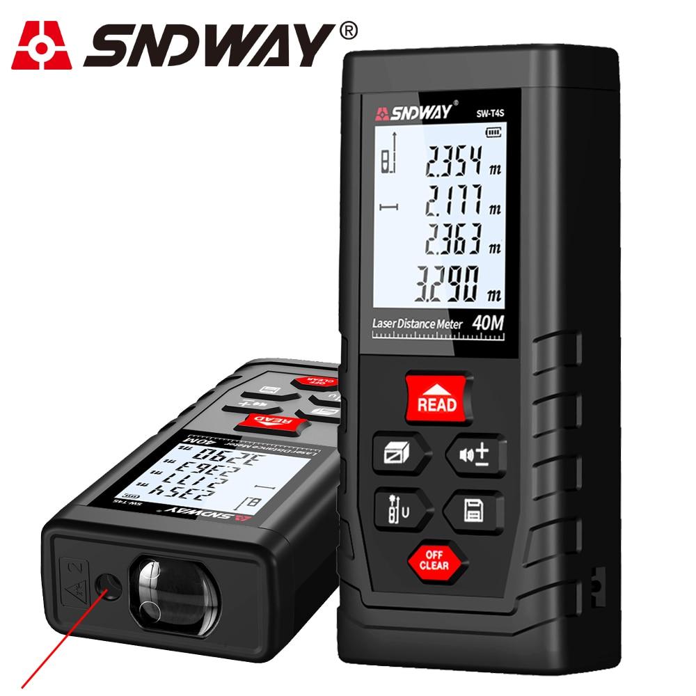 SNDWAY Laser Distance Meter T4S Laser Rangefinder for Hunting Laser Roulette Measuring Tape лазерный дальномер mini desktop laser tracing measuring tape