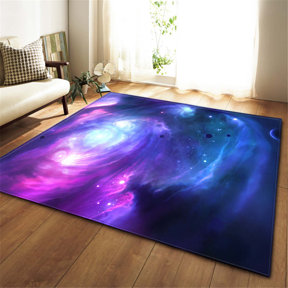 Image 4 - 3D Galaxy Space Stars Carpets Living Room Decoration Bedroom 