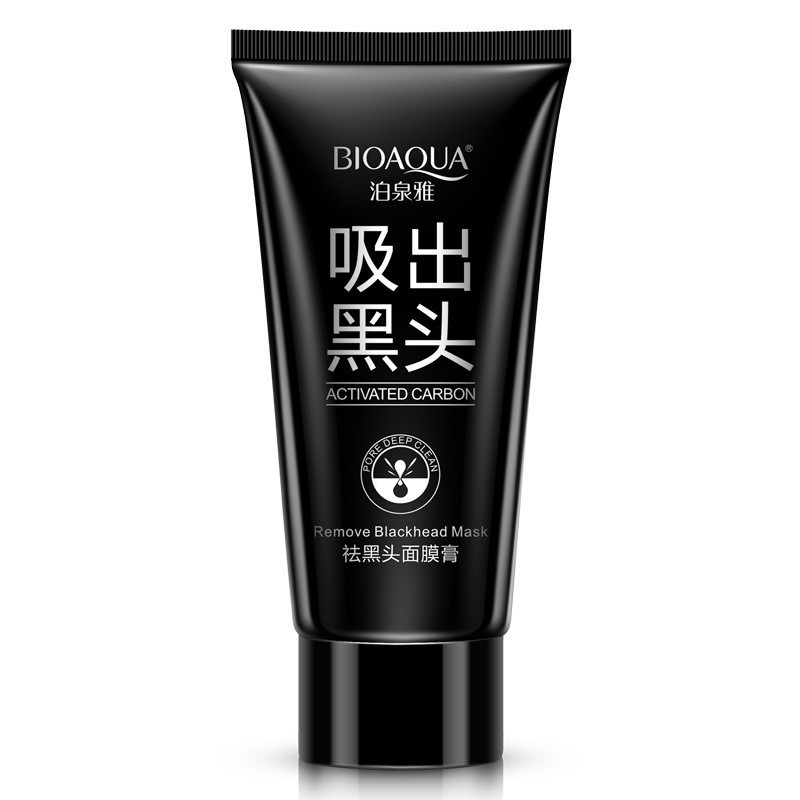 BIOAQUA Skin Care Black mud Facial face mask Deep Cleansing purifying Remove blackhead facial mask strawberry nose Acne remover 9