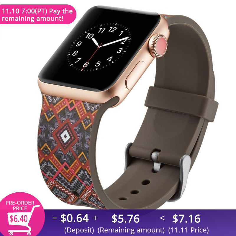 New Brand Silicone Sports Band Colorful wrist Strap 38 44mm for Apple Watch bands 42mm Bracelet iwatch Series 4 3 2 1 watchbands brand new 4 2 01