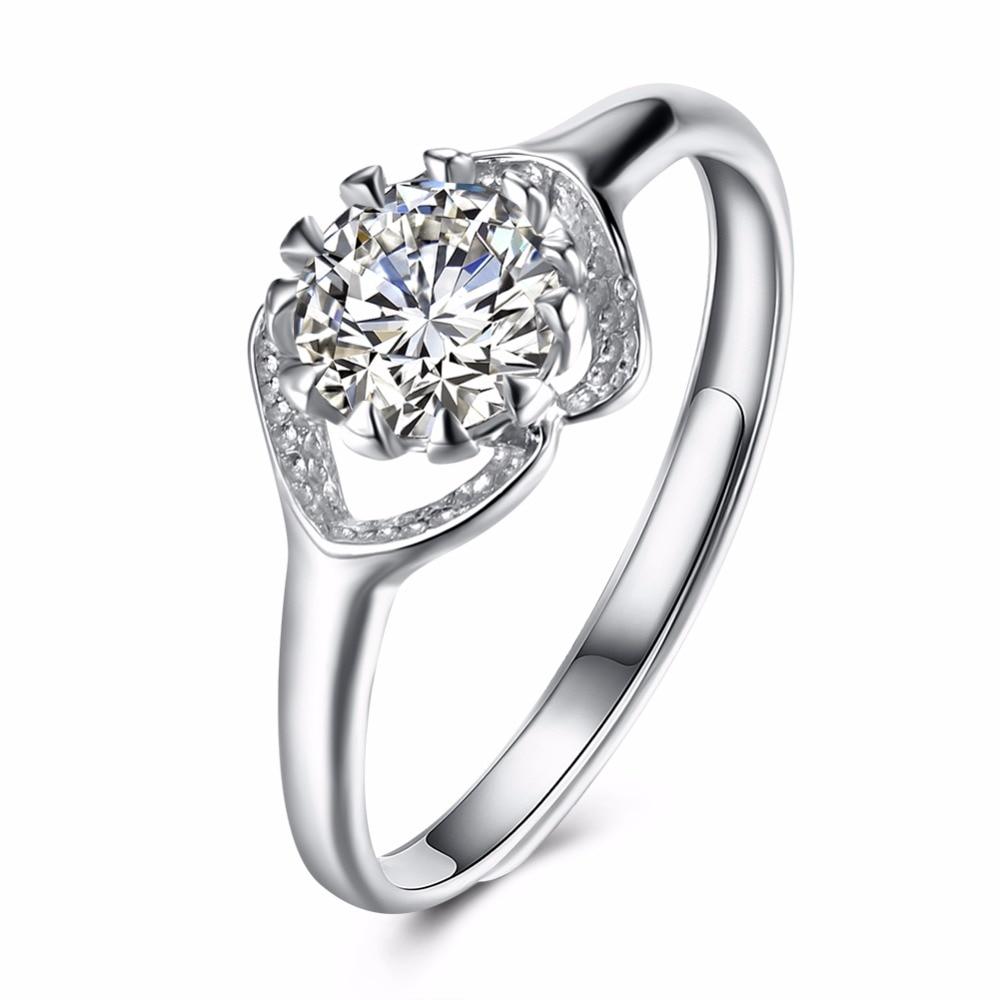 Новые горячие Стандартный 925 стерлингового серебра сладкие и прекрасные леди носить циркон ретро кольцо покупки с