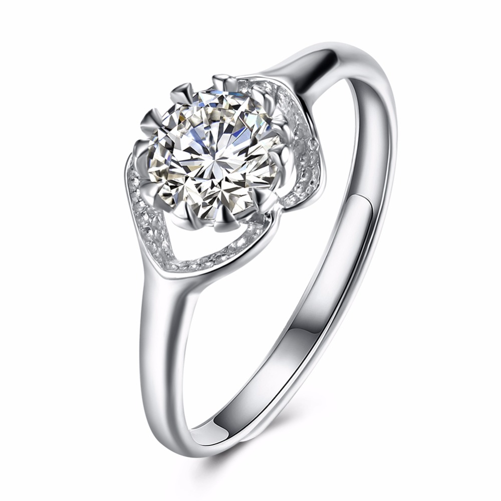 The new hot standard 925 sterling silver jewelry sweet and lovely lady wearing zircon re ...