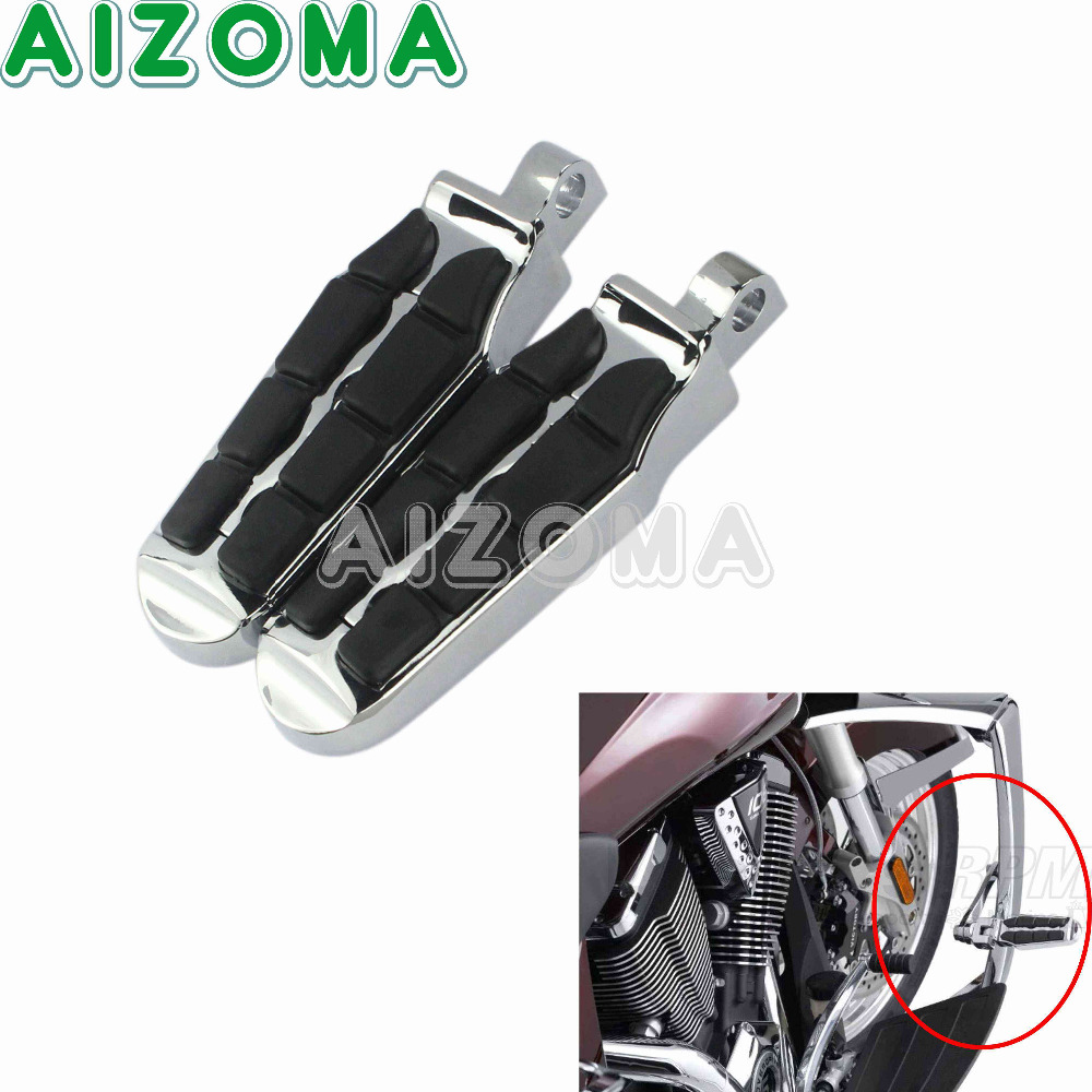 For Harley Male Style Footpeg Mount Chrome Motorcycle Highway Victory Cross Country Tombstone Foot Pegs 1 Pair