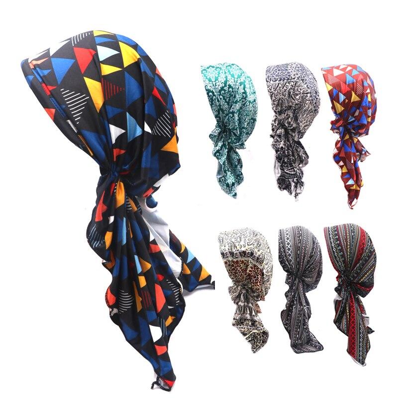 2pcs Girls Women Printing Hat   Beanie   Scarf Turban Colorful Head Wrap Cap Femme Homme   Skullies     Beanies   Bonnet Casquette Homme