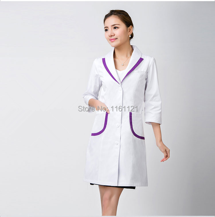 Medical uniforms hospital lab coat korea style women for Spa uniform colors