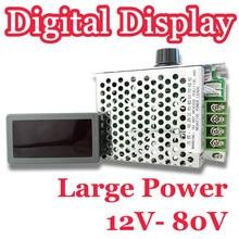 โรงงานราคา! ขายส่ง12V 80V DC 30A LEDดิจิตอลจอแสดงผลPWM HHO RC Motor Speed Controller