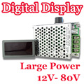 Precio de fábrica! comercio al por mayor de Alta Potencia 12 V-80 V DC Controlador de Velocidad Del Motor de PWM HHO RC 30A LED Display Digital
