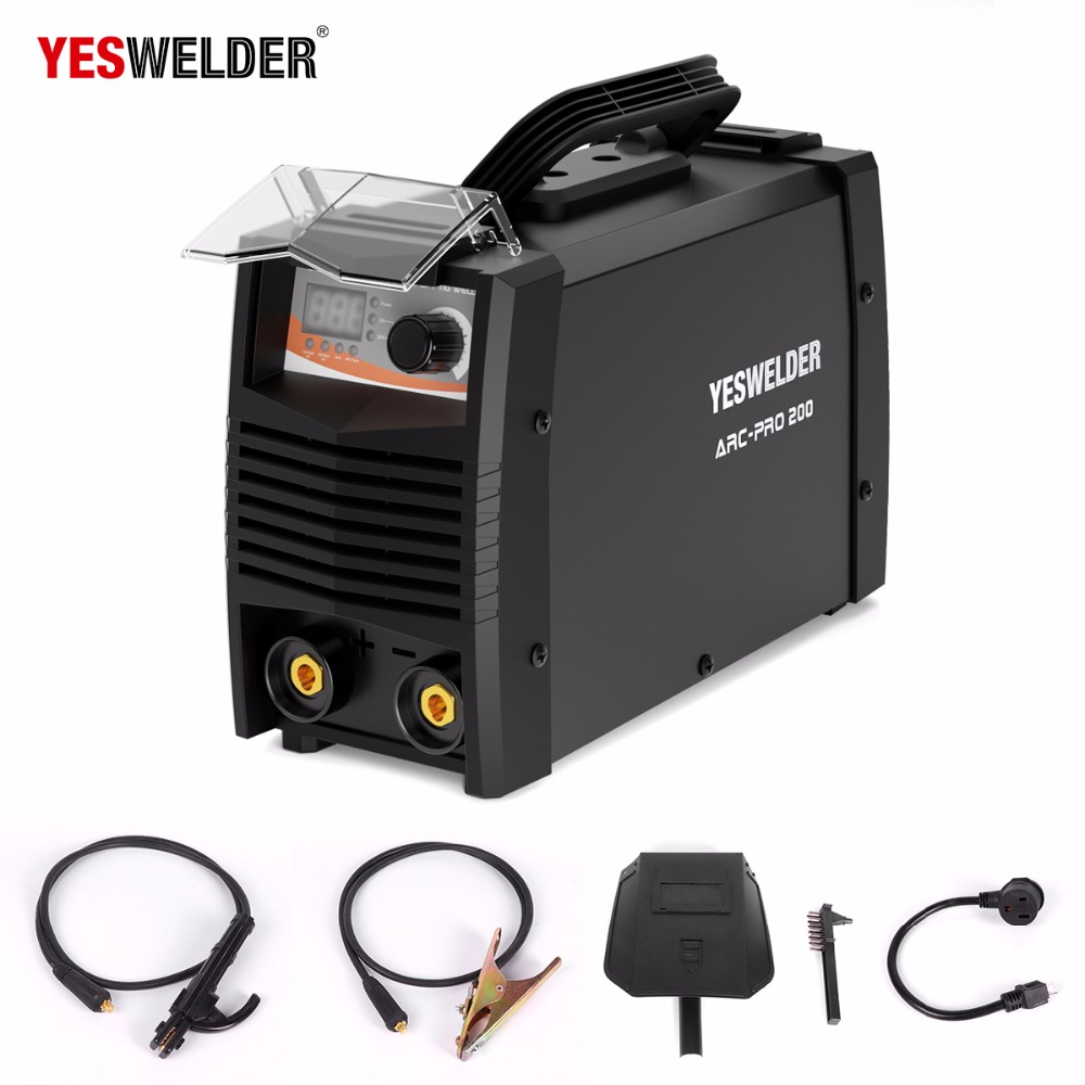 Portable ARC 200amp stick welder inverter MMA welding machine soldering station smart inverter DC stick/lift TIG welding