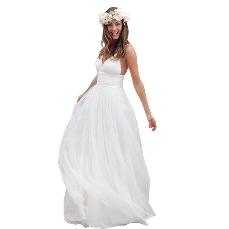 Fantastic Spaghetti Strap Beach Wedding Dresses 2016