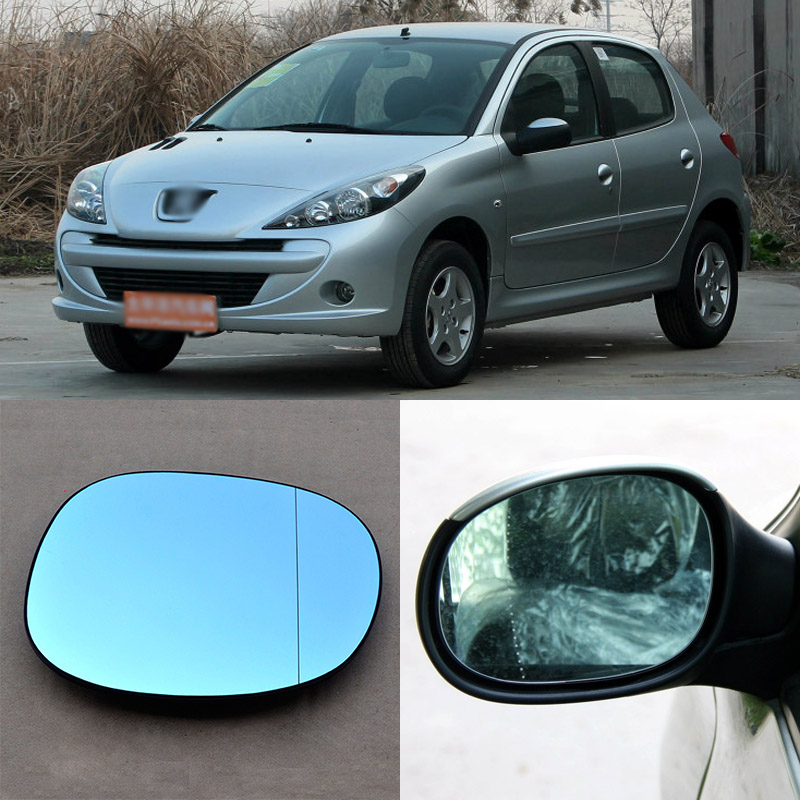 Brand New Car Rearview Mirror Blue Glasses LED Turning Signal Light with Heating For Peugeot 206/207 for volkswagen sagitar brand new car rearview mirror blue glasses led turning signal light with heating