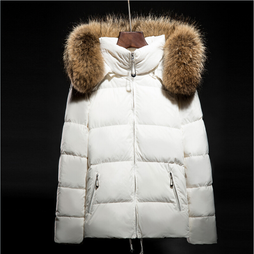 Winter New Fashion Women Coat Leisure Big yards Thick Warm cotton cotton coat Hooded Pure color Slim Fur collar Jacket G2309
