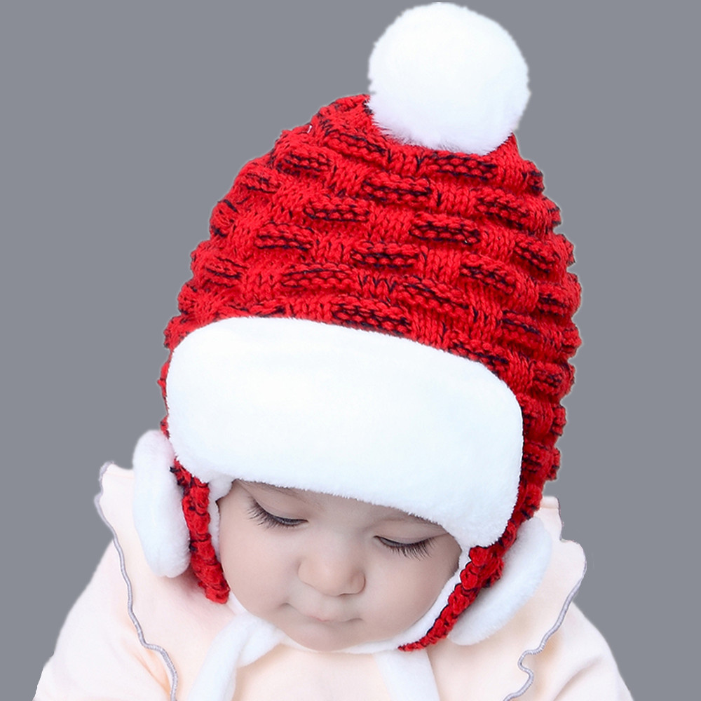 2018 wool Children Winter ushanka hats Baby Child solid fur hat kids girls  Earflap Thicker snow Caps Age for 2 5 years old-in Skullies   Beanies from  ... 53e97508495