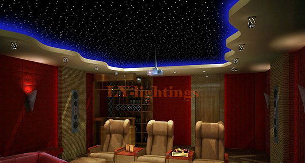 DIY optic fiber light kit led light lancher+optical fibre color change RF remote night star sky ceiling light 35w power 2xoutput decoration optical fiber light kit led light engine cables tailpieces fibre optic color change twinkle effect diy stars
