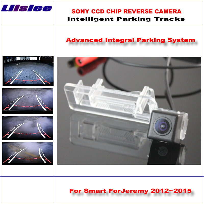 Liislee High Quality Intelligentized Car Rear Reverse Camera For Smart ForJeremy 2012~2015 / NTSC PAL RCA SONY CCD 580 TV Lines image