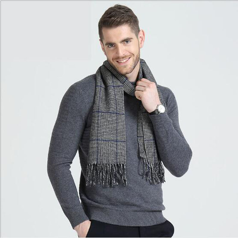 1cd7363c31489 High Quality 100% Wool Men Scarf Long Scarves Men Clothing Dress and  Accessories Winter and Autumn Clothing Accessories