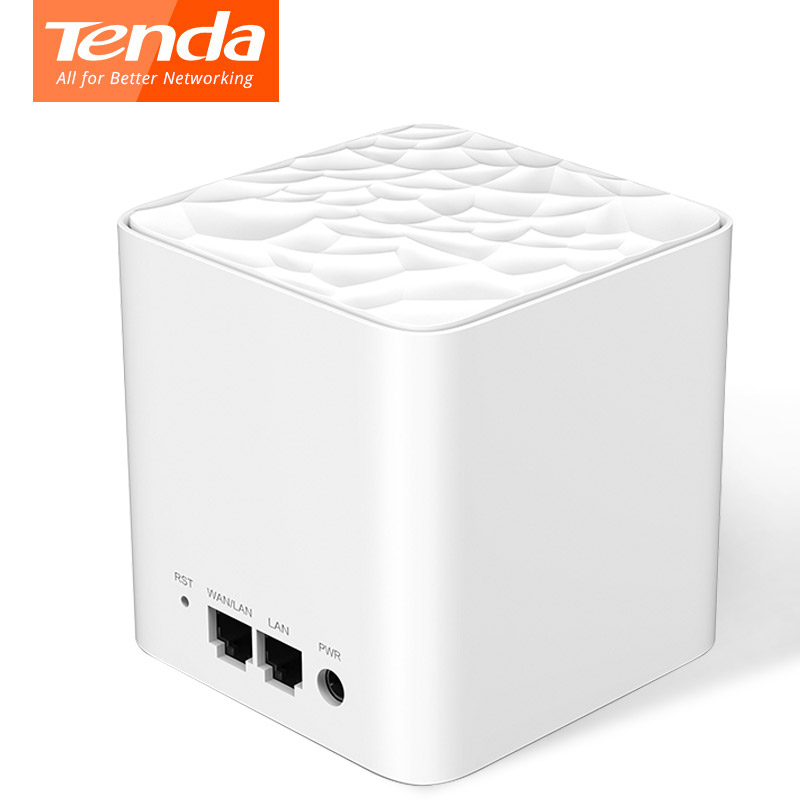 Tenda Nova MW3 Wireless Wifi Router AC1200 Whole Home Dual Band 2.4Ghz/5.0Ghz Wifi Repeater Mesh WiFi System APP Remote Manage admin manage