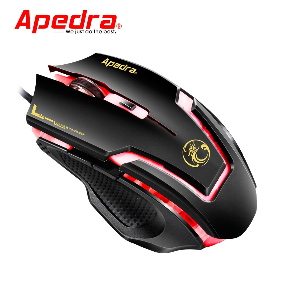 2019 Ergonomic Mice Professional Design 3200DPI LED Optical 6D USB Wired Gaming Mouse Optical Gaming Mice Mouse For PC Laptop(China)