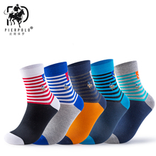 The new PIER POLO original single socks in the cylinder oblique stripes leisure men wholesale