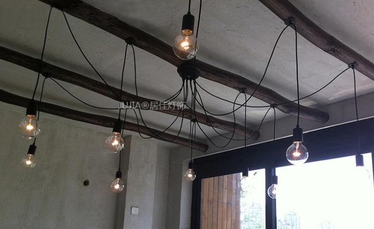 ФОТО Free shipping Black Vintage Edison Pendant Lights Iron Ceiling Base+220v Big Light Bulb restaurant dining room foyer lighting