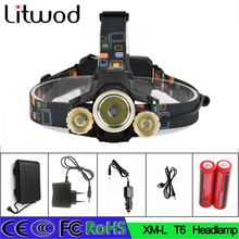 Z30 7000LM CREE XML 1T6+2Q5 LED Headlight Headlamp Head Lamp Light 4mode torch with different accessories for fishing Lights