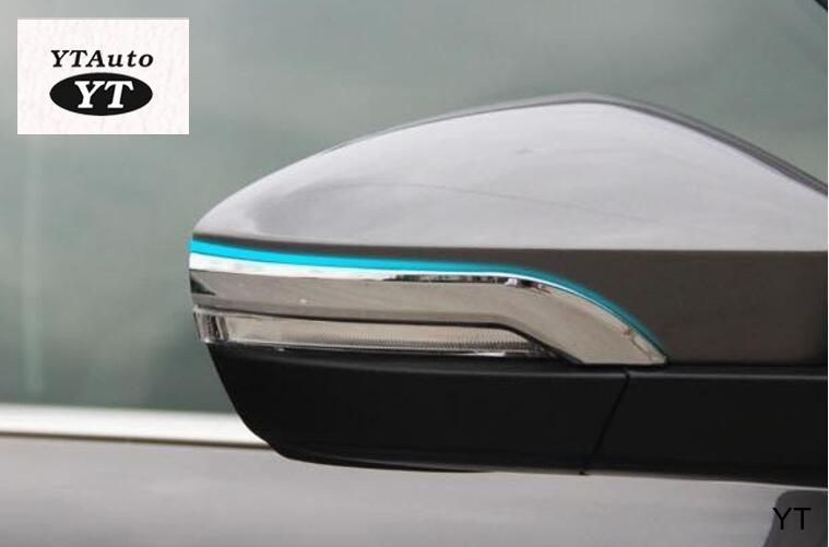 Car rear view mirror cover,auto rear mirror trim for skoda octivia A7 2015 2016,abs chrome, 2pc/lot,car styling