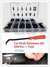 350 unids Auto Car Push Pin Remache Clip de Ajuste Del Panel de Retención Surtido + Herramienta de Moldeo para/BMW/Benz/Ford/Toyota/Honda/Nissan