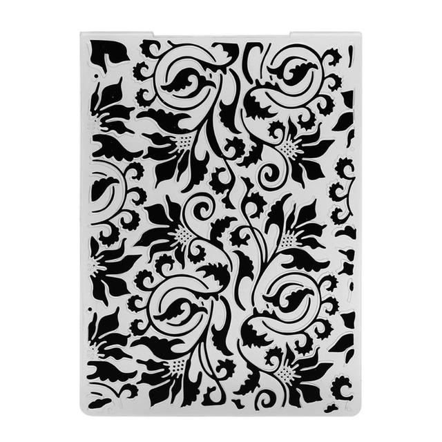 5 Styles Lace Pattern Plastic Scrapbook Embossing DIY Craft Template ...