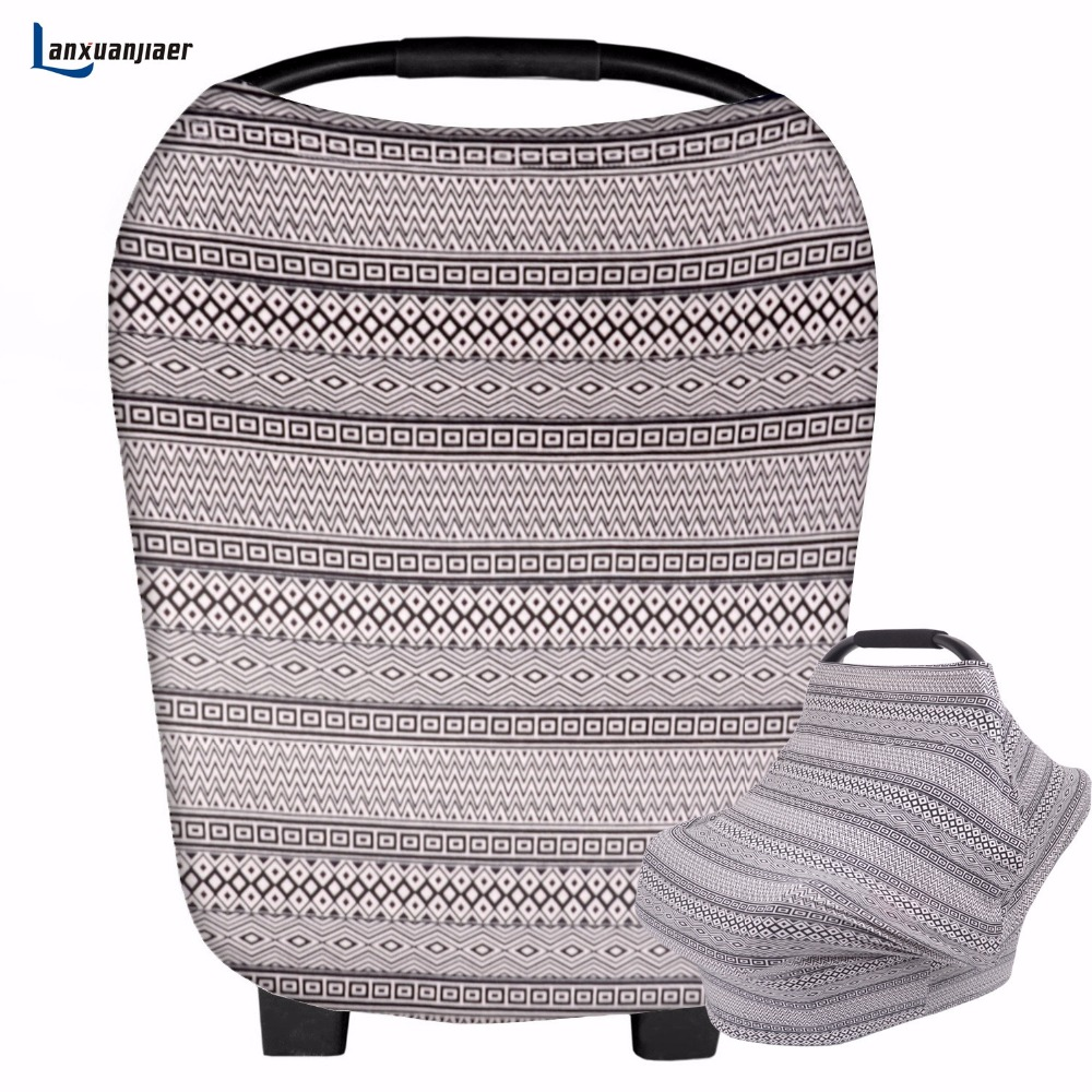 New Breathable breastfeeding cover cotton muslin Mother feeding baby Mommys outdoors feeding breast nursing Baby Stroller cover