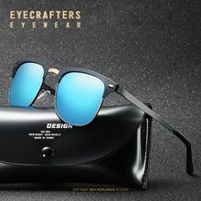 Luxury Brand Designer Half Frame Polarized Sunglasses Mens Womens Coating Mirror