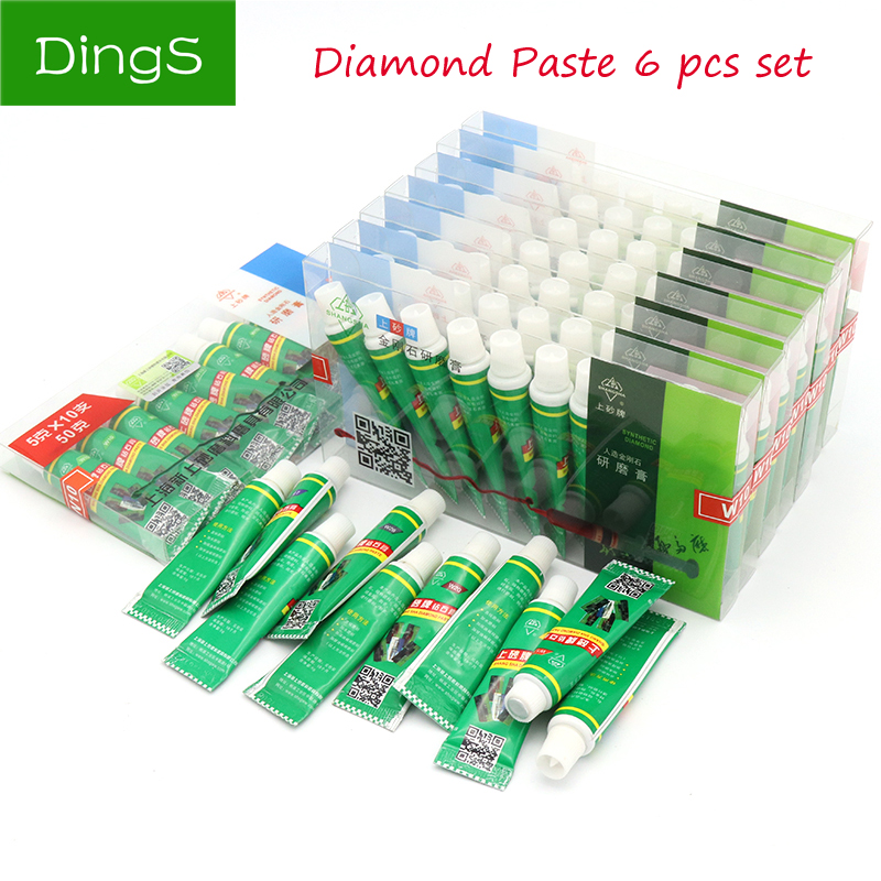 Tireless High Quality 6pcs Diamond Abrasive Paste Needle W0.5-w40 Grinding Polishing Tube Lapping Compound Metal Jade Amber Buffing Tools Pretty And Colorful Tools