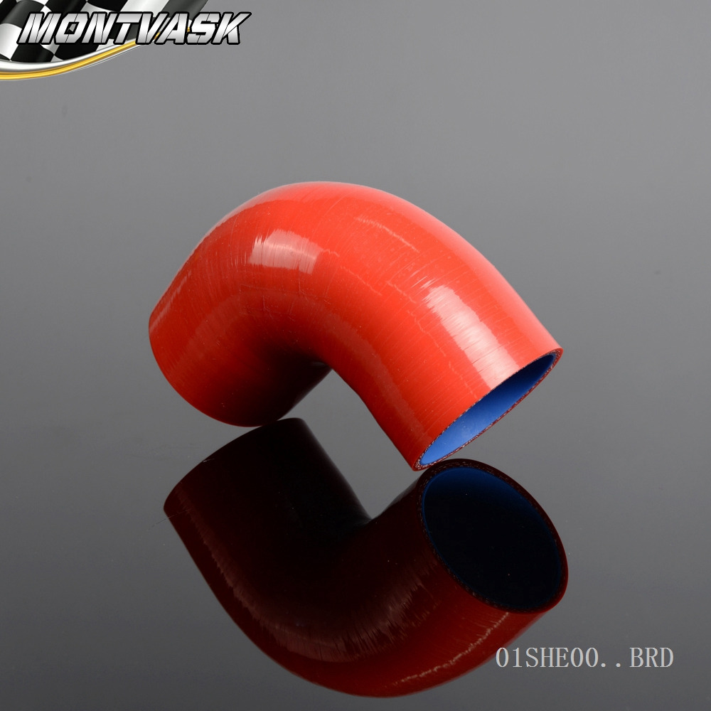 2 TO 2 Inch 90 degree Hose 50mm Turbo Silicone Elbows Coupler Pipe